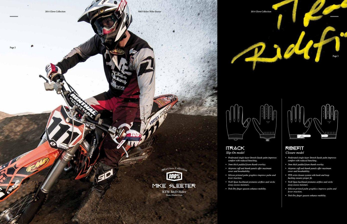 Motokrosové rukavice 100% RIDEFIT RED YELLOW  617640eb5d