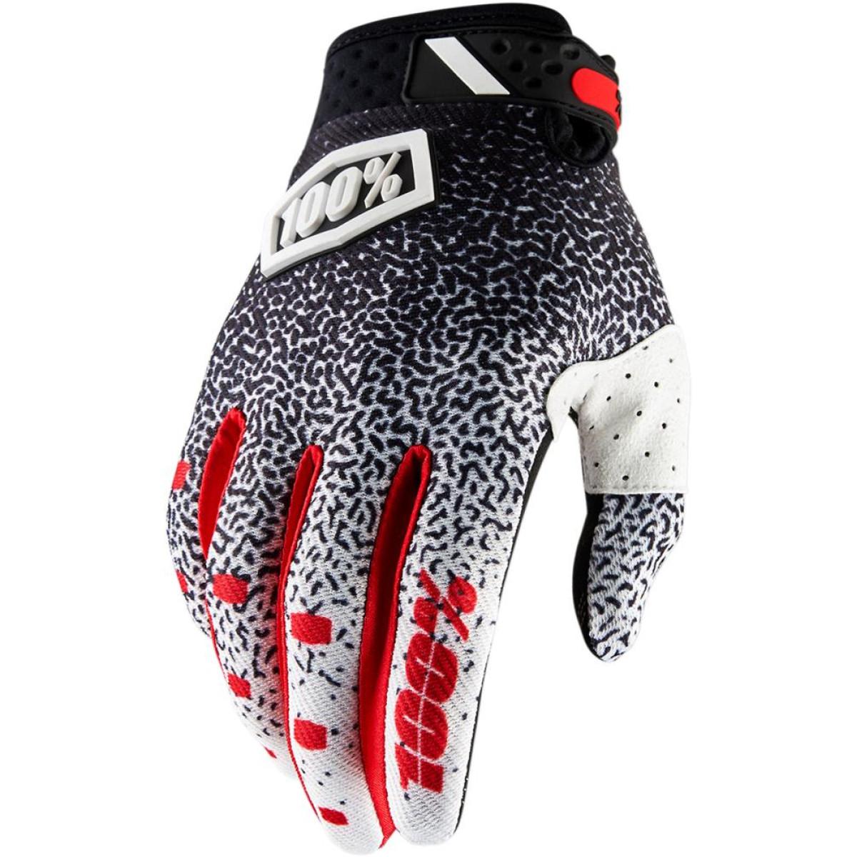 Motokrosové rukavice 100% RIDEFIT Black White 2018 vel. L  48d9ace14e