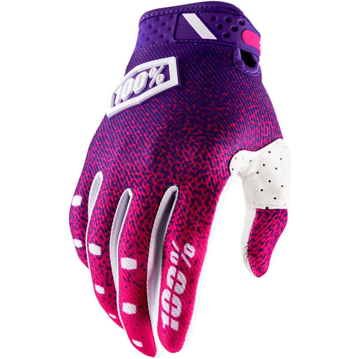 Motokrosové rukavice 100% RIDEFIT Pink Purple vel. S  bdcaa778db