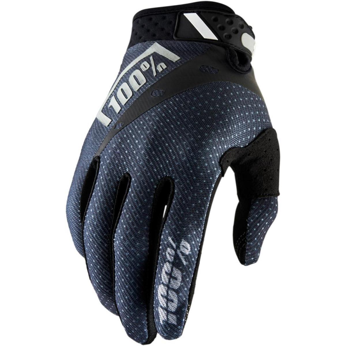 Motokrosové rukavice 100% RIDEFIT BLACK 2018 vel. M  890b81ea20