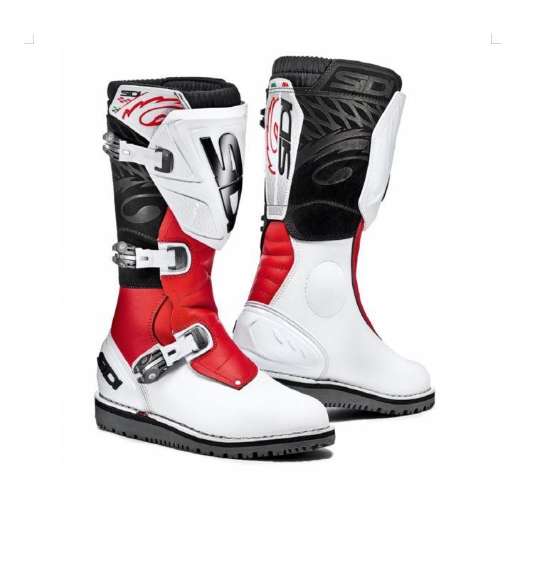83e3c9e7347 Motokrosové boty SIDI TRIAL ZERO.1 white red 2017