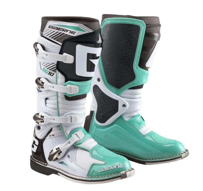 Motokrosové boty GAERNE SG 10 bílá zelená  c89ad705c9