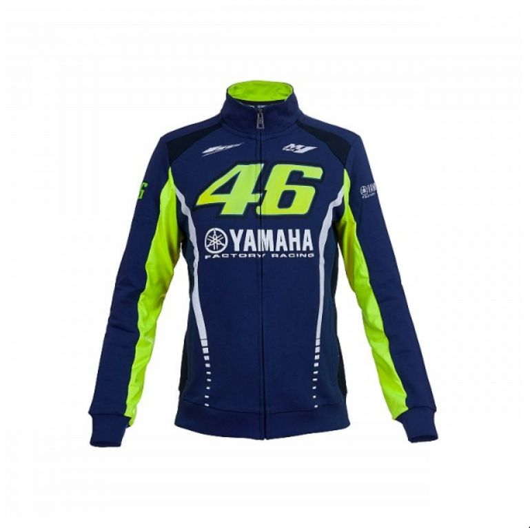 96736096d1c Dámská mikina Valentino Rossi VR46 YAMAHA 272409 fleece modrá ...