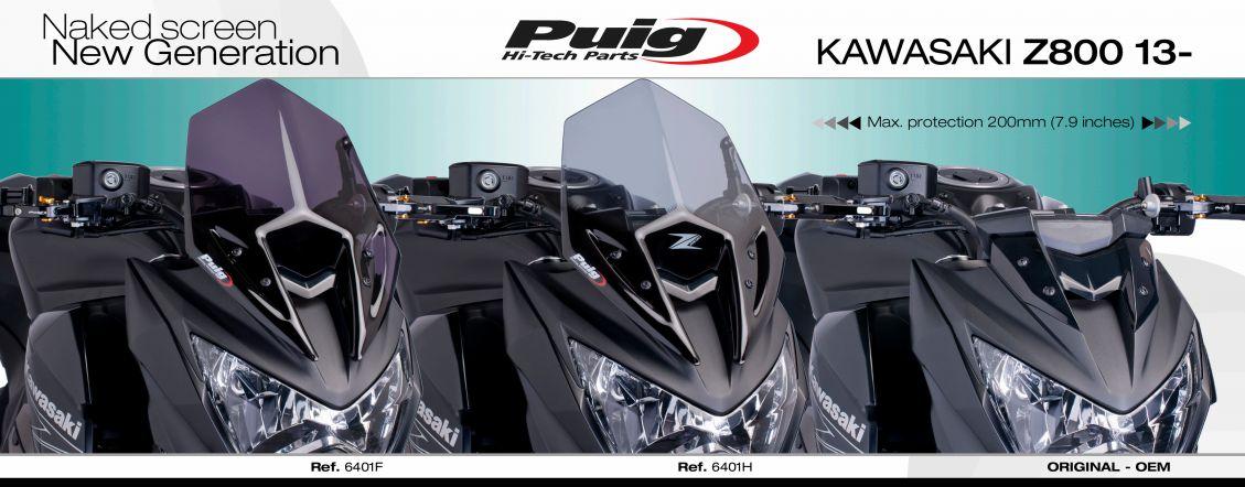 5866b1eefc9 Plexi PUIG SPORT Kawasaki Z800 2013-2017 karbonové