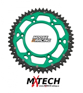 Rozeta MOOSE RACING DUAL SPROCKETS KAWASAKI - GREEN 52 ZUBŮ