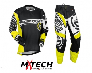 komplet MOOSE RACING QUALIFIER BLACK/HI VIZ YELLOW  vel. 36+XL