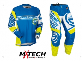 Komplet MOOSE RACING QUALIFIER BLUE/HI VIZ YELLOW 32+M