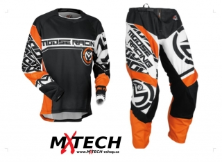 Motokrosový komplet MOOSE RACING QUALIFIER ORANGE/BLACK 36+XL
