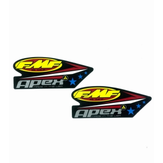 Set samolepek na výfuk FMF FACTORY 4.1 ALUMINUM LOGO DECAL REPLACEMENT 2PCS