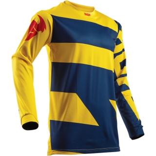 A Motokrosový dres THOR PULSE LEVEL NAVY/YELLOW vel. XL