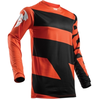 A Dětský motokrosový dres THOR PULSE LEVEL RED ORANGE/BLACK vel. M