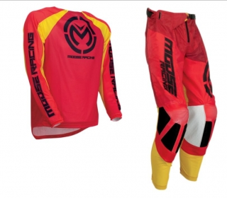 A Motokrosový komplet MOOSE RACING M1 RED/YELLOW vel. 34+L