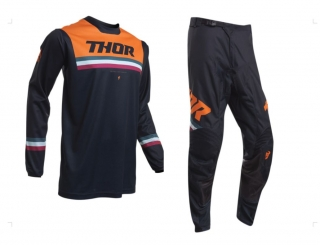 A Dětský motokrosový komplet THOR PULSE AIR PINNER MIDNIGHT/ORANGE 26+L