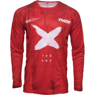 Motokrosový - enduro dres THOR PULSE HZRD RED/WHITE