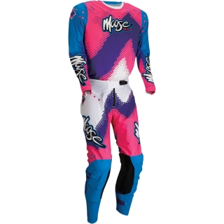 Motokrosový komplet MOOSE RACING M1 AGROID Pink/Blue/Purple