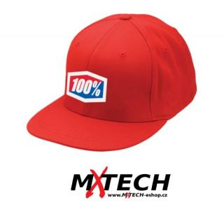 Pánská kšiltovka 100% ICON HAT 210 FITTED RED vel. S/M
