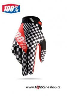 Motokrosové rukavice 100% RIDEFIT  LEGEND BLACK/RED/WHITE