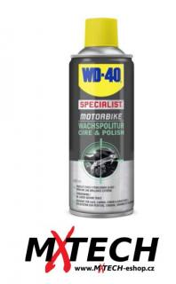 Vosk ve spreji WD-40 MOTORBIKE WAX POLISH 400 ml