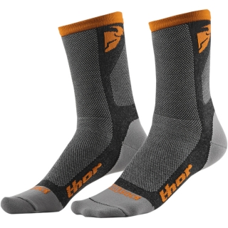 Ponožky THOR DUAL SPORT SOCK GRAY/ORANGE 2018