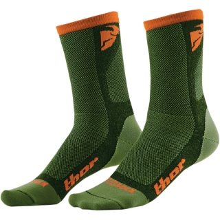 Ponožky THOR DUAL SPORT SOCK GREEN/ORANGE 2018