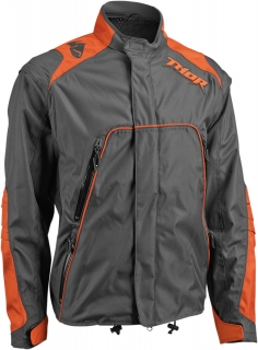 Motokrosová a enduro bunda THOR RANGE CHARCOAL/ORANGE 2017