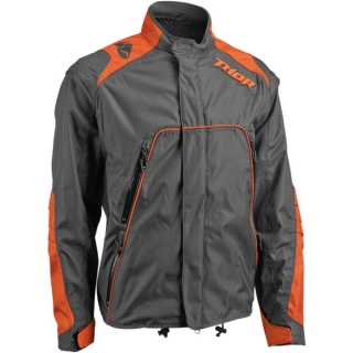 Motokrosová a enduro bunda THOR RANGE CHARCOAL/ORANGE 2018