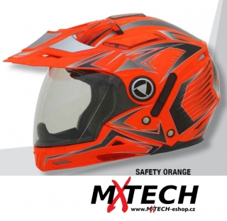 Motocyklová přilba AFX FX-55 MULTICOLOR SAFETY ORANGE