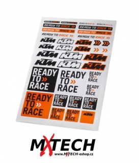 Arch samolepek KTM CORPORATE STICKER SHEET 22cmx32 cm