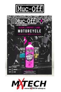 Čistící sada na motocykly MUC-OFF THE CLEAN PROTECT LUBE MOTORCYCLE KIT CONTAINS