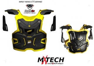 Chránič hrudi LEATT ADVENTURE Pro Chest Guard BlackYellow