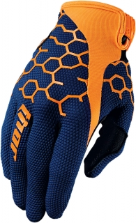 Motokrosové rukavice THOR DRAFT COMB NAVY/FLUO ORANGE