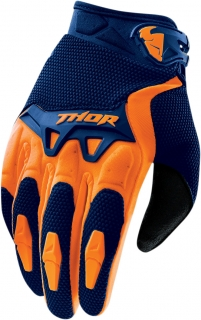 Motokrosové rukavice THOR SPECTRUM NAVY/ORANGE