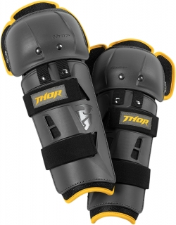 Kolenní chrániče THOR SECTOR GP KNEE GUARD CE CHARCOAL/YELLOW 2017