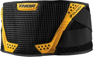 Ledvinový pás THOR CLINCH BELT BLACK/YELLOW vel. S/M