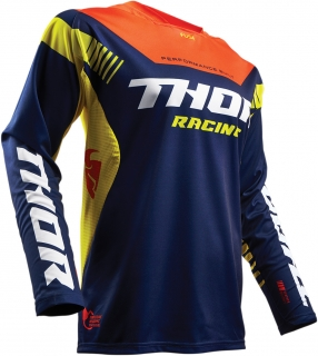 Motokrosový dres THOR FUSE PROPEL NAVY/RED ORANGE  2017