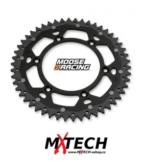 Rozeta MOOSE RACING DUAL SPROCKETS KAWASAKI - BLACK 52 ZUBŮ