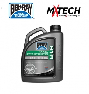 Plně sysnetický olej BEL-RAY H1-R RACING SYNTHETIC ESTER 2-STROKE ENGINE OIL 4 L