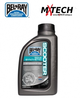 Olej BEL-RAY SCOOTER SEMI-SYNTHETIC 2T ENGINE OIL 1 LITR