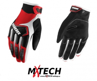 Motokrosové rukavice THOR SPECTRUM RED/BLACK/WHITE