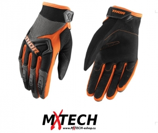 Motokrosové rukavice THOR SPECTRUM CHARCOAL/ORANGE
