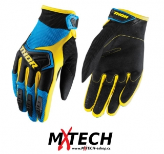 Motokrosové rukavice THOR SPECTRUM BLUE/BLACK/YELLOW