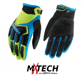 Motokrosové rukavice THOR SPECTRUM GREEN/BLACK/BLUE