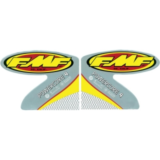 Set samolepek na výfuk FMF POWERCORE 4 STRAIGHT REPLACEMENT LOGO DECAL 2PCS