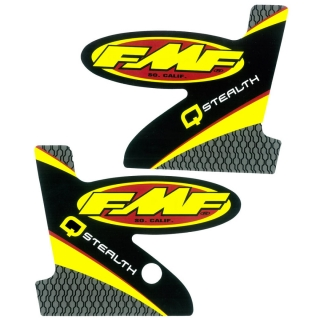 Set samolepek na výfuk FMF Q-STEALTH STRAIGHT LOGO DECAL