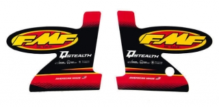 A Set samolepek na výfuk FMF Q-STEALTH STRAIGHT LOGO DECAL