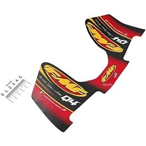 Set samolepek na výfuk FMF Q4 HEX WRAP LOGO DECAL REPLACEMENT