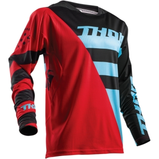Motokrosový dres THOR FUSE AIR RIVE RED/BLUE 2018