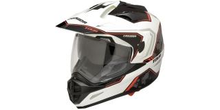 3aa001565a Motocyklová helma CASSIDA TOUR GLOBE (bílá černá červená)
