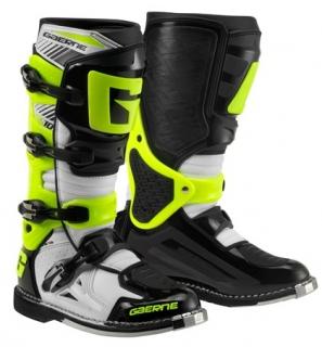 Motokrosové boty GAERNE SG 10 bílá černá žlutá 990a432aa7