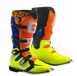 Motokrosové boty Gaerne G-REACT GOODYEAR ORANGE BLUE YELLOW